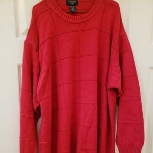 Cable knit red sweater by Dockers